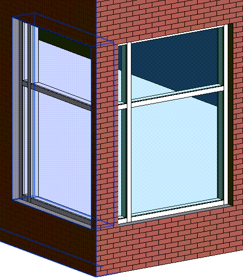 Curtain Wall at Corner Not Cutting Wall